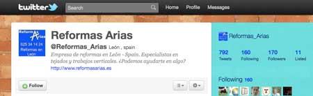 Twitter de Reformas Arias