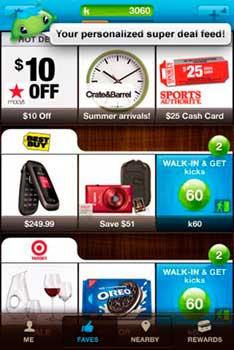 Ofertas de Shopkick en un smartphone