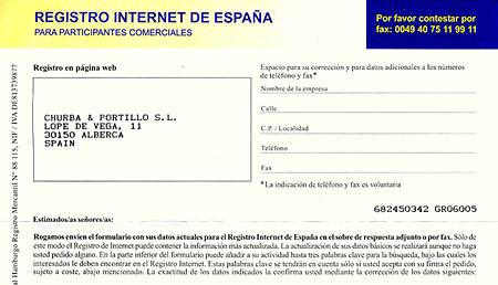 registro internet
