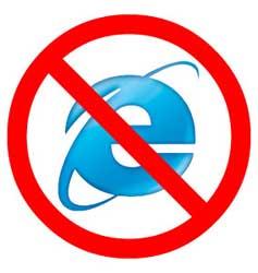No uses Internet Explorer
