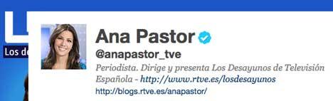 Ana Pastor en Twitter