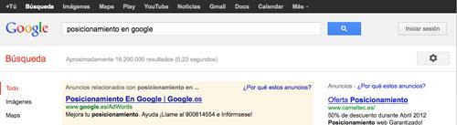 Posicionamiento en Google 2