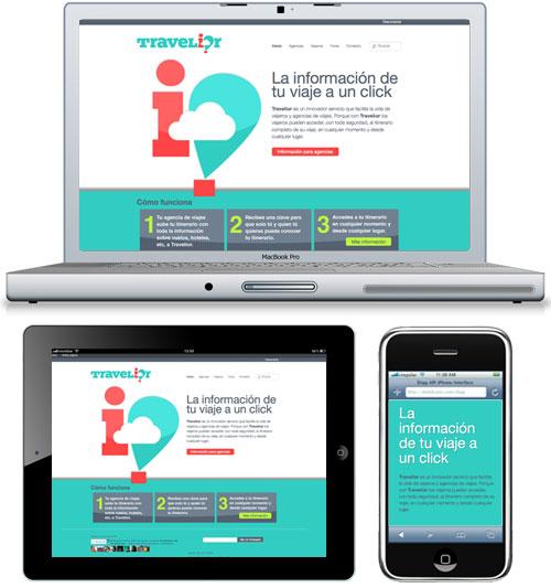 Travelior, diseño web responsive